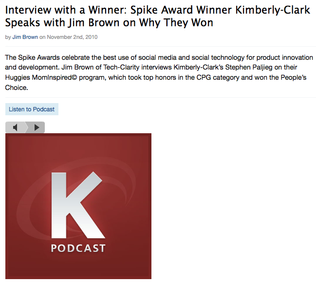 Interview with SPIKE Award Winner Kimberly-Clark