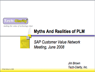 The Value of PLM in Product and Service Leadership – Myths of PLM