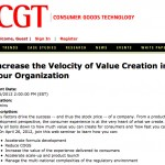 Increase the Velocity of Value Creation in Your Organization | Web Events |Consumer Goods Technology