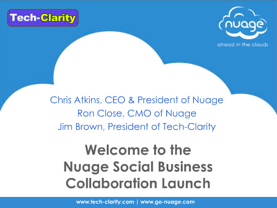 Nuage Social Business Collaboration Launch