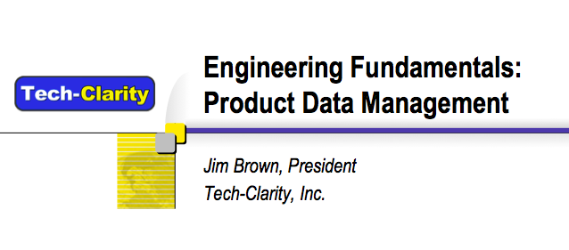 Engineering Fundamentals: Product Data Management