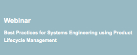 Systems Engineering and PLM Webcast