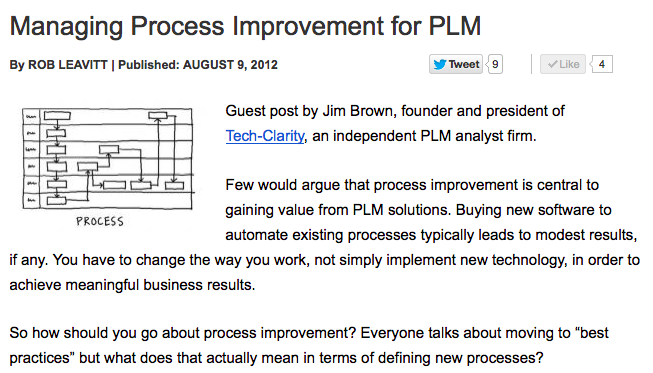 Managing Process Improvement for PLM | PTC