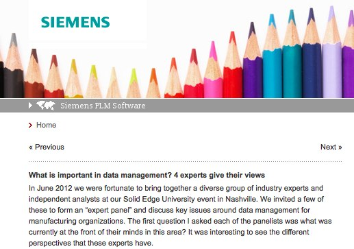 Siemens PLM Data Management Expert Panel Summary