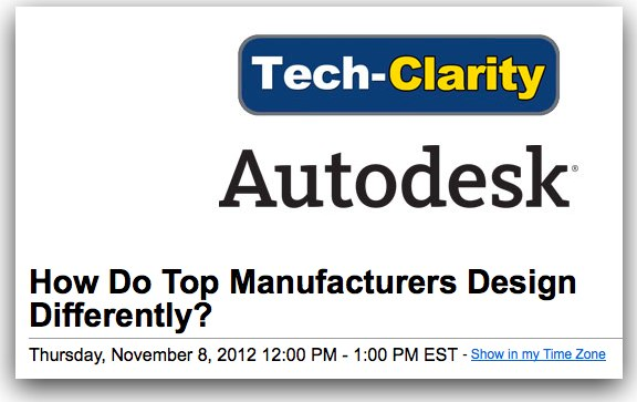 Webcast on how leading manufacturers design products for Top 10 product design companies