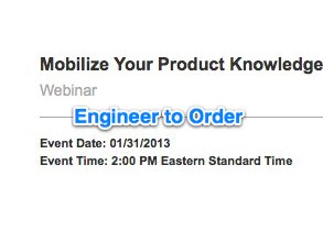 Webcast on Leveraging Knowledge in Engineer to Order