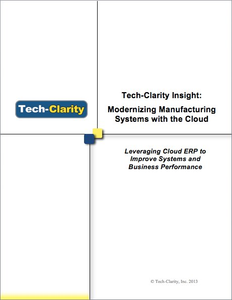 Modernizing Manufacturing Systems with the Cloud