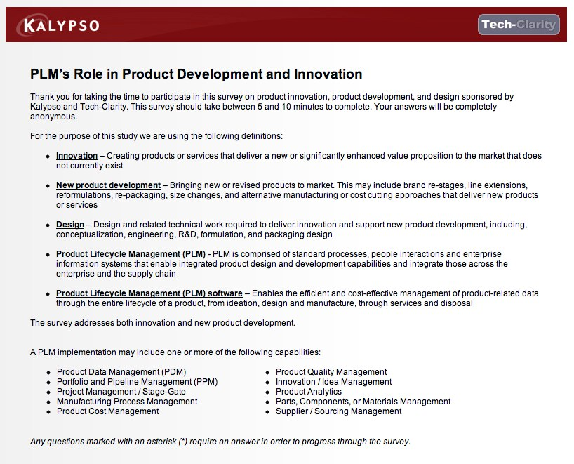 Take a Survey on PLM's Role in Product Development and Innovation