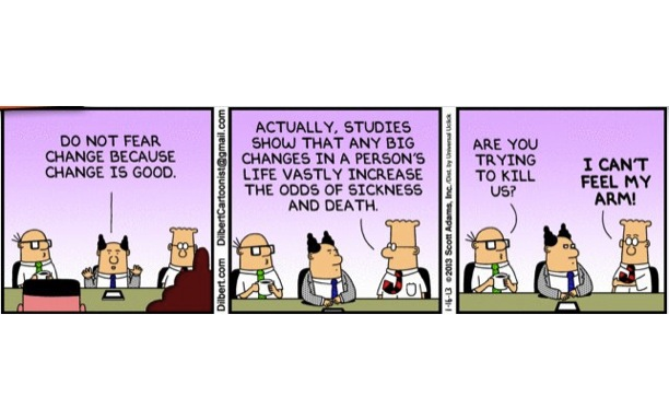 Dilbert on Change Management and PPM