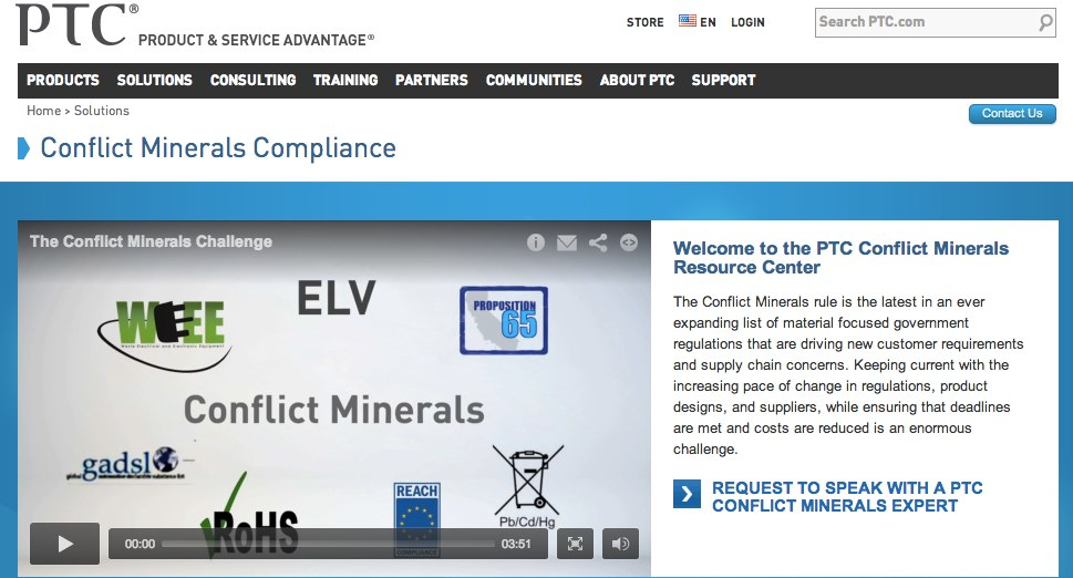 PTC Conflict Minerals Page-1