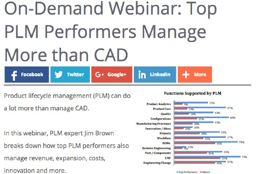 On-Demand Webinar – Top Performers Do More than Manage CAD with PLM!