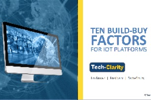 Ten Build-Buy Factors for IoT Platforms