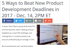Five Ways to Beat Product Development Deadlines (webcast)