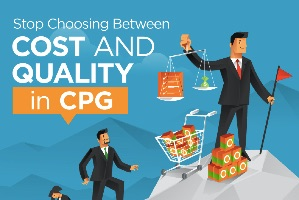 Choosing Cost versus Quality in CPG (infographic)