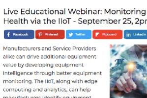 IoT Equipment Health Monitoring (webcast)