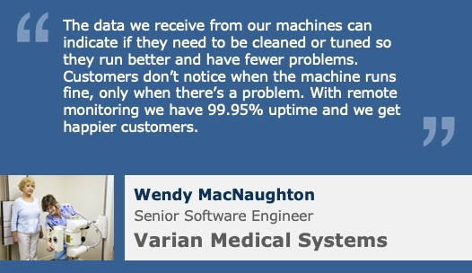 Varian Quote on value of IoT Remote Device Monitoring for Medical Equipment Image credit: CanStockPhoto