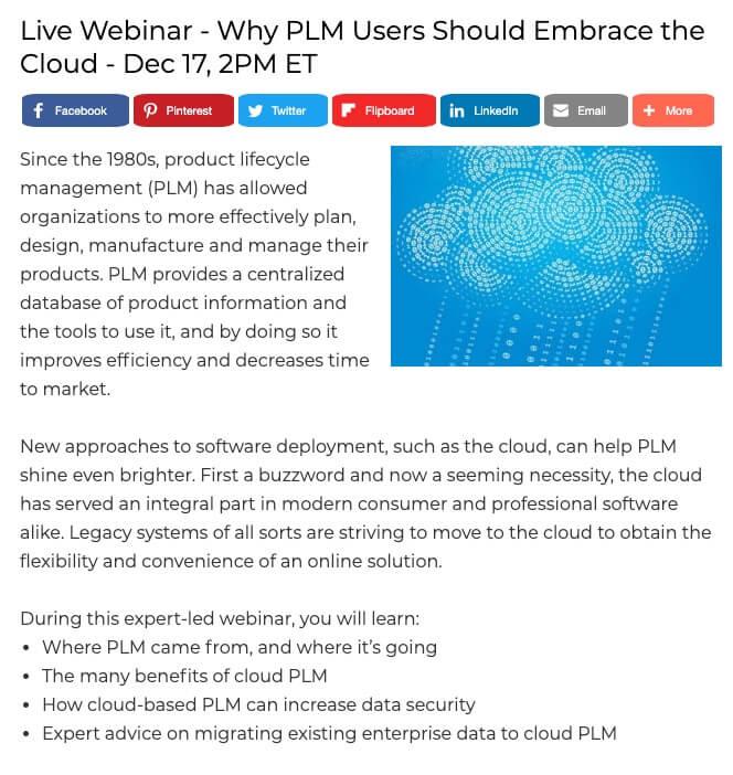 Cloud PLM Webcast
