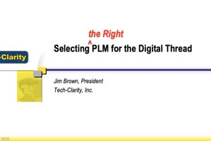 Selecting PLM for the Digital Thread (webcast)